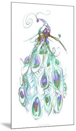 Gilded Peacock Plumes I-Jennifer Goldberger-Mounted Art Print