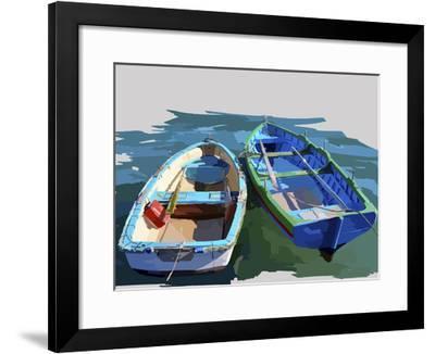 Bold Boats III-Emily Kalina-Framed Art Print