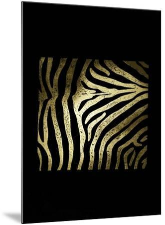 Gold Foil Zebra Pattern on Black-Vision Studio-Mounted Art Print