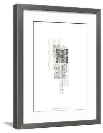 Block Print Composition IV-June Erica Vess-Framed Art Print