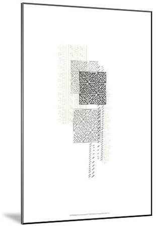 Block Print Composition IV-June Erica Vess-Mounted Art Print