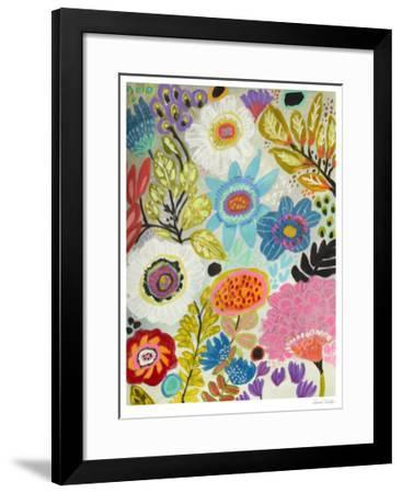 Secret Garden Floral I-Karen  Fields-Framed Limited Edition