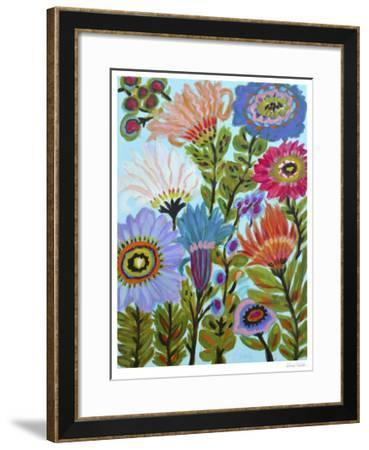 Secret Garden Floral IV-Karen  Fields-Framed Limited Edition