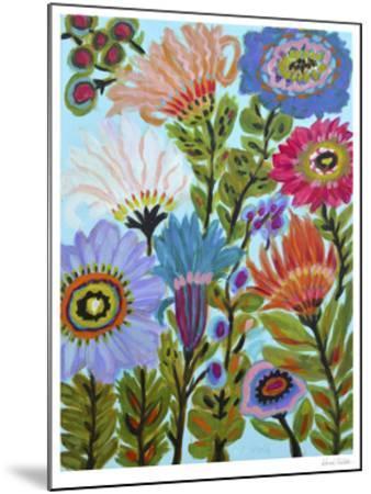 Secret Garden Floral IV-Karen  Fields-Mounted Limited Edition