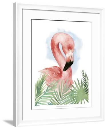 Watercolor Flamingo Composition I-Grace Popp-Framed Giclee Print