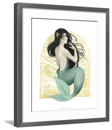 Deco Mermaid II-Grace Popp-Framed Giclee Print