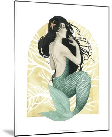Deco Mermaid II-Grace Popp-Mounted Giclee Print