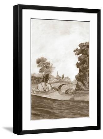 Sepia French Wall Paper III-Naomi McCavitt-Framed Giclee Print