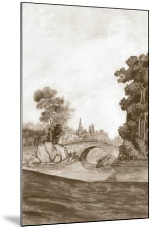 Sepia French Wall Paper III-Naomi McCavitt-Mounted Giclee Print