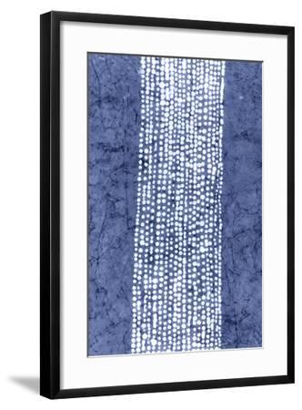 Indigo Primitive Patterns VI-Renee W^ Stramel-Framed Giclee Print