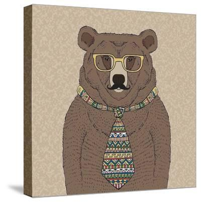 Bear-man-GraphINC-Stretched Canvas Print