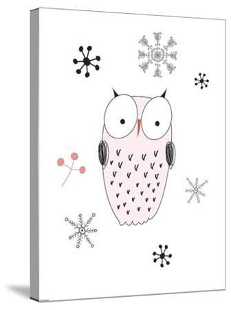 Owl III-GraphINC-Stretched Canvas Print