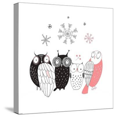 Owl IV-GraphINC-Stretched Canvas Print