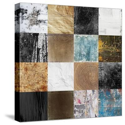 Tiles Decor Blue Notes 2-GraphINC-Stretched Canvas Print