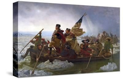 Washington Crossing the Delaware (cropped)-Emanuel Gottlieb Leutze-Stretched Canvas Print