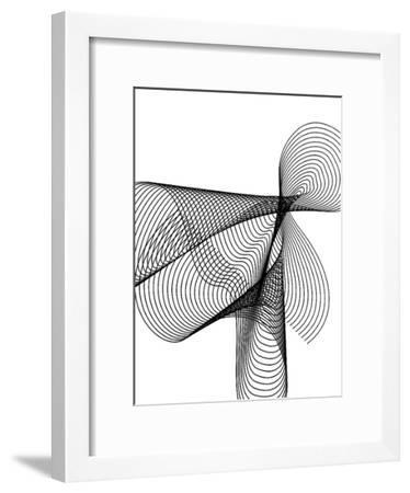 Line Swirl 4-Indigo Sage Design-Framed Art Print