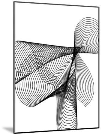 Line Swirl 4-Indigo Sage Design-Mounted Art Print
