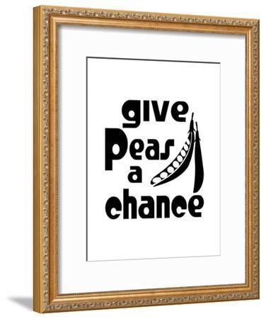 Kitchen Peas-Indigo Sage Design-Framed Art Print