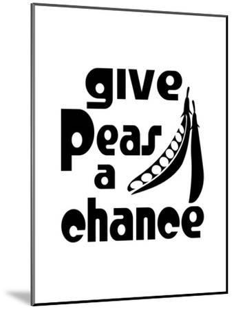 Kitchen Peas-Indigo Sage Design-Mounted Art Print