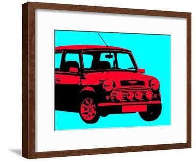 Mini Aqua-Indigo Sage Design-Framed Art Print