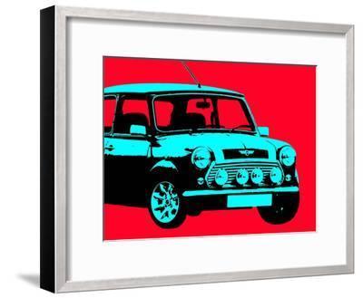Mini Red-Indigo Sage Design-Framed Art Print