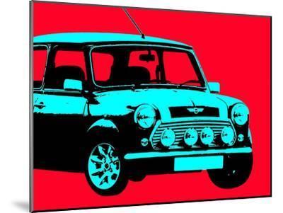Mini Red-Indigo Sage Design-Mounted Art Print