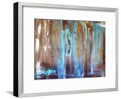 Healing Blue-Laura D Zajac-Framed Art Print