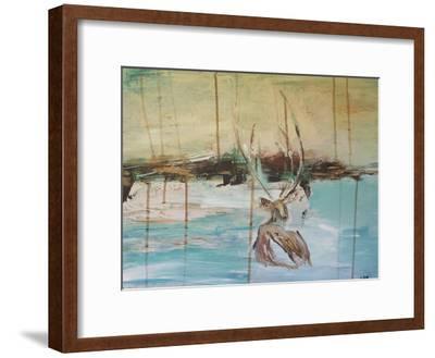 Resting Stag-Laura D Zajac-Framed Art Print