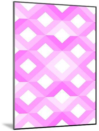 Pink Geometric Style-Wonderful Dream-Mounted Art Print