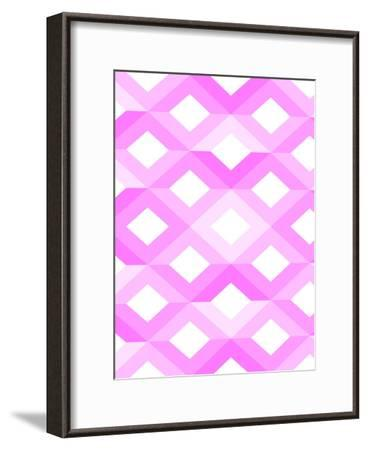 Pink Geometric Style-Wonderful Dream-Framed Art Print