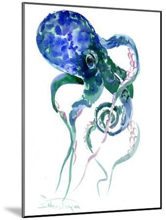Octopus Blue Green-Suren Nersisyan-Mounted Art Print