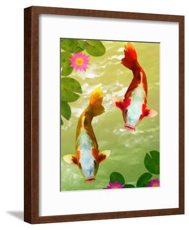 Asia Fish Koi Sea Life-Wonderful Dream-Framed Art Print