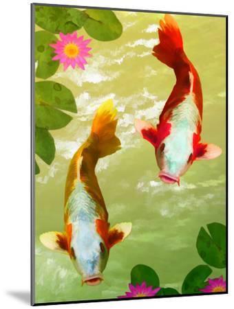 Asia Fish Koi Sea Life-Wonderful Dream-Mounted Art Print