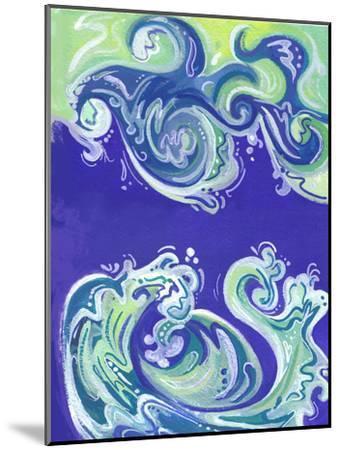 Waves Illo-Cara Kozik-Mounted Art Print