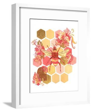 Bumblebee One Fine Day-Cara Kozik-Framed Art Print