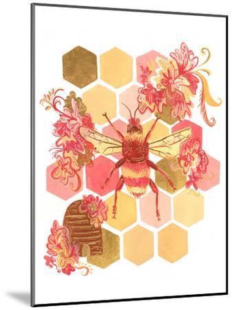 Bumblebee One Fine Day-Cara Kozik-Mounted Art Print