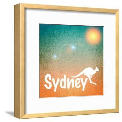Sydney Australia-Wonderful Dream-Framed Art Print