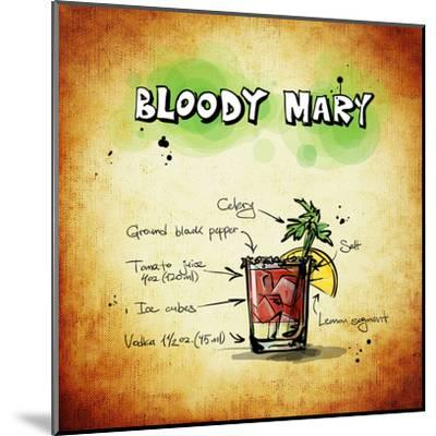 Bloody Mary Cocktail-Wonderful Dream-Mounted Art Print