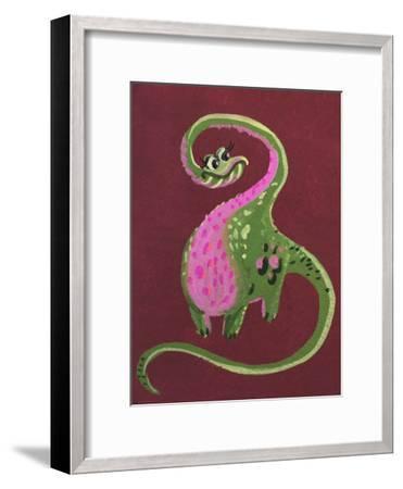 Female Dino-Cara Kozik-Framed Art Print