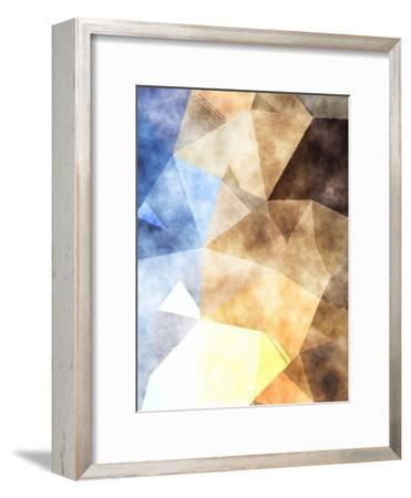 Triangles Abstract Pattern 4-Grab My Art-Framed Art Print