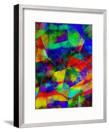 Triangles Abstract Pattern 9-Grab My Art-Framed Art Print