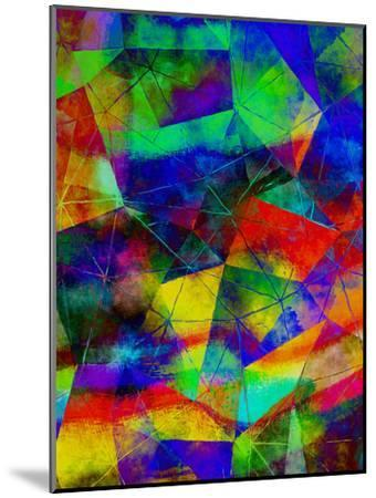 Triangles Abstract Pattern 9-Grab My Art-Mounted Art Print