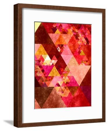 Triangles Abstract Pattern 12-Grab My Art-Framed Art Print