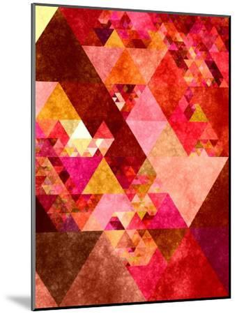 Triangles Abstract Pattern 12-Grab My Art-Mounted Art Print