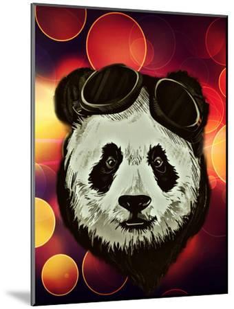 Hipster Panda with Bokeh Style-Wonderful Dream-Mounted Art Print