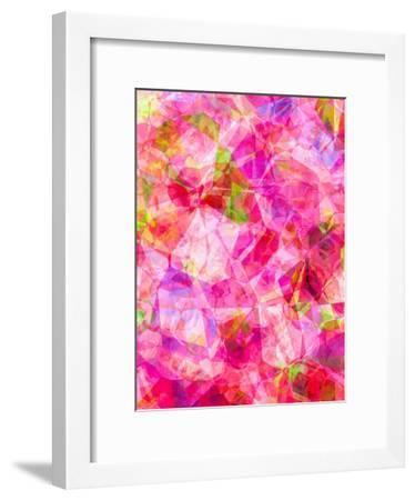 Triangles Abstract Pattern 26-Grab My Art-Framed Art Print
