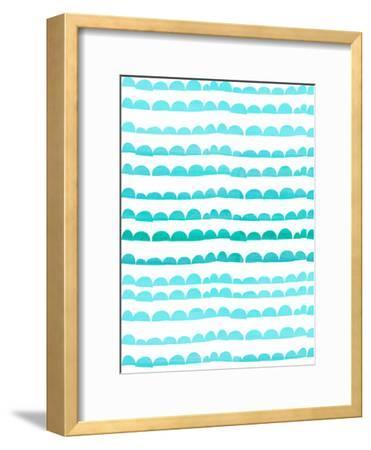 Aqua Pattern-Grab My Art-Framed Art Print