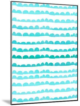 Aqua Pattern-Grab My Art-Mounted Art Print