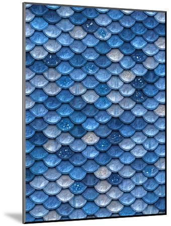 Blue Mermaid Glitter Scales-Grab My Art-Mounted Art Print