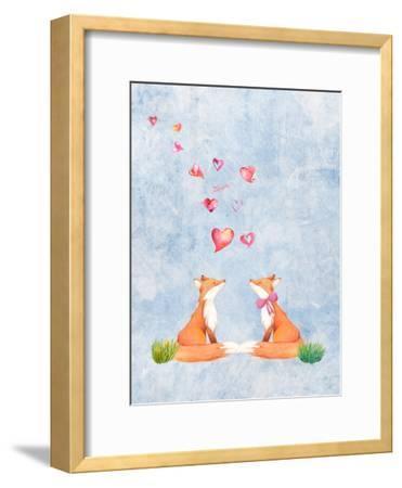 Love Fox Animal 3-Grab My Art-Framed Art Print